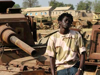 A war child in Sudan