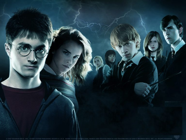 Harry Potter and others from the series
