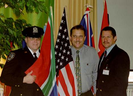 Members of the South African Christian Police Association in New York