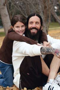 Brian Welch with his daughter