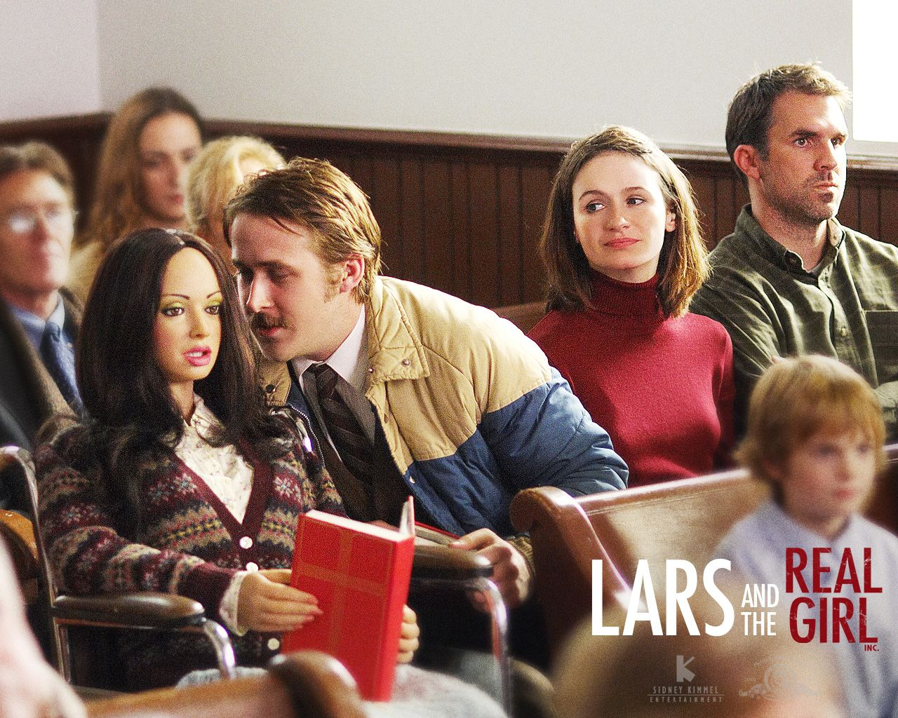 Lars (Ryan Gosling) and the Real Girl in Church