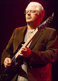 Larry Coryell playing guitar