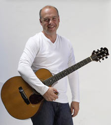 Brian Doerksen with his guitar