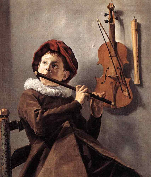 A young flute player