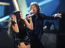 Fergie and Mick Jagger