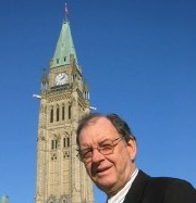 Lloyd Mackey on parliament hill