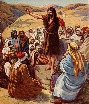 John the Baptist preaching in the dessert