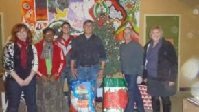 Volunteers and members of the Sanctuary Youth Center Staff