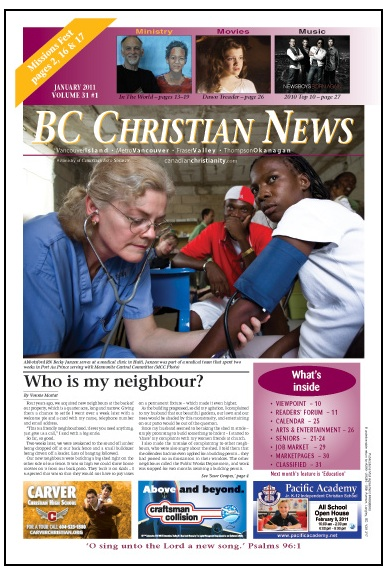 BC Christian News Cover
