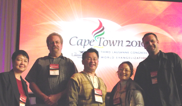 Flyn Ritchie (second from left) with his table group at the Lausanne Congress on World Evangelization in Cape Town.