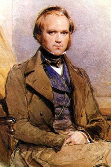 A portrait of Charles Darwin