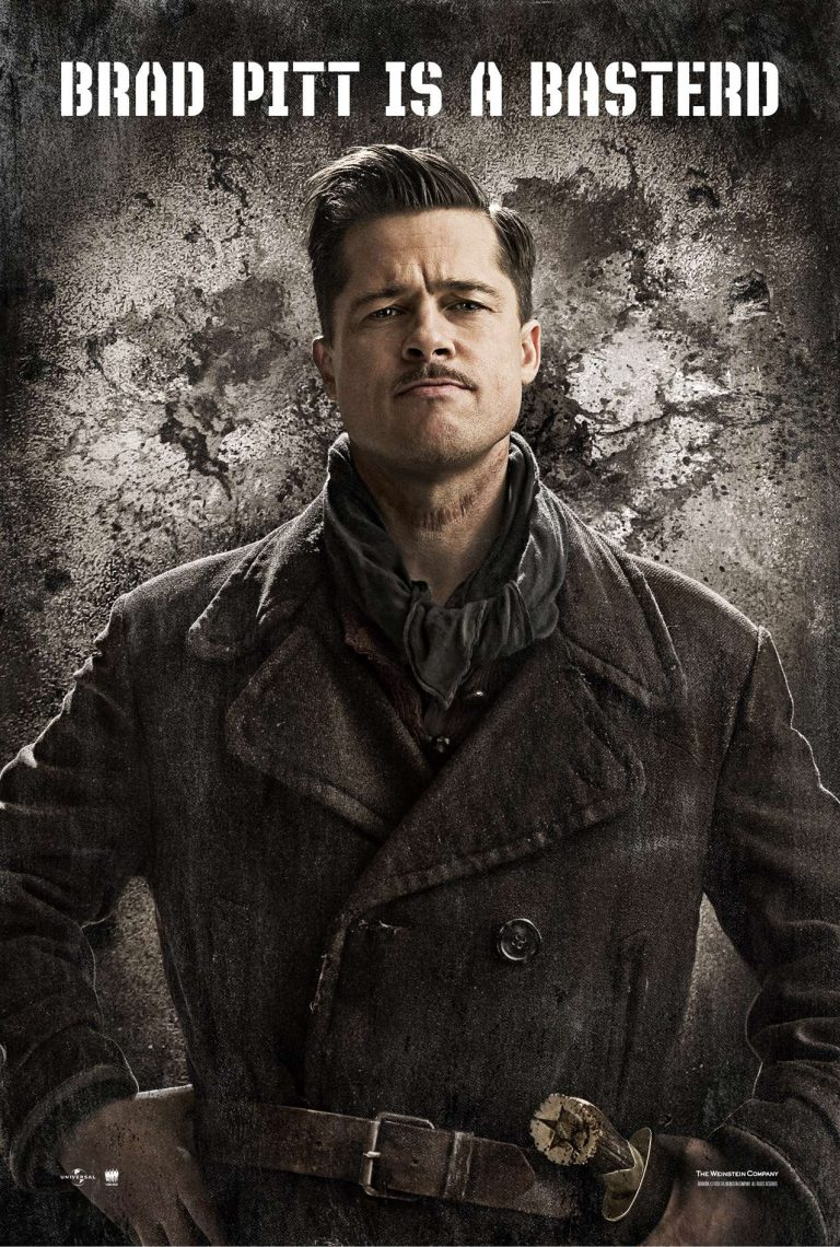 Brad Pitt on the Inglorious Bastards Poster