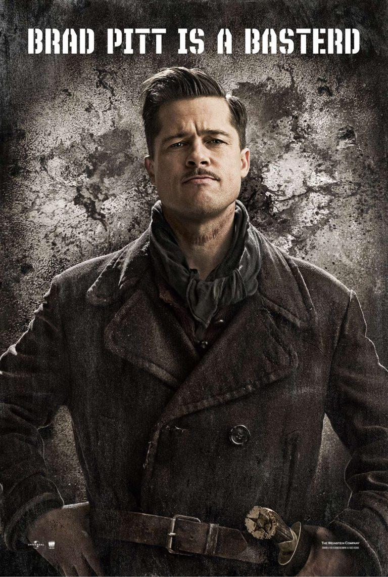 Brad Pitt on the Inglorious Bastards Poster