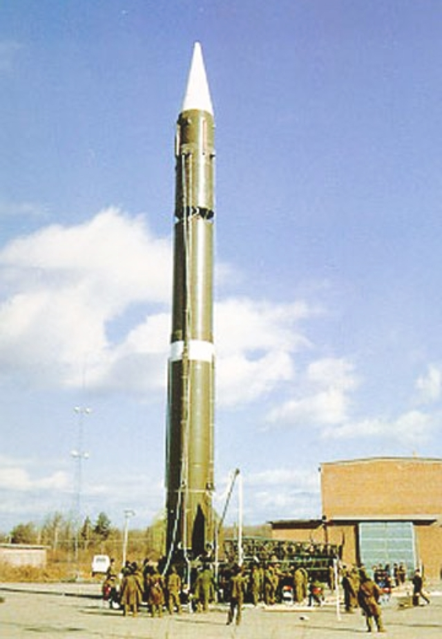 A nuclear ballistic missile