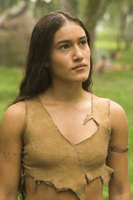 Q'Orianka Kilcher as Pocahontas in The New World