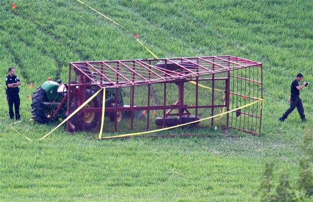 Overturned Tractor at Youth Camp