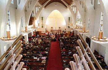 A view of the inside of St John's Anglican Church, Vancouver