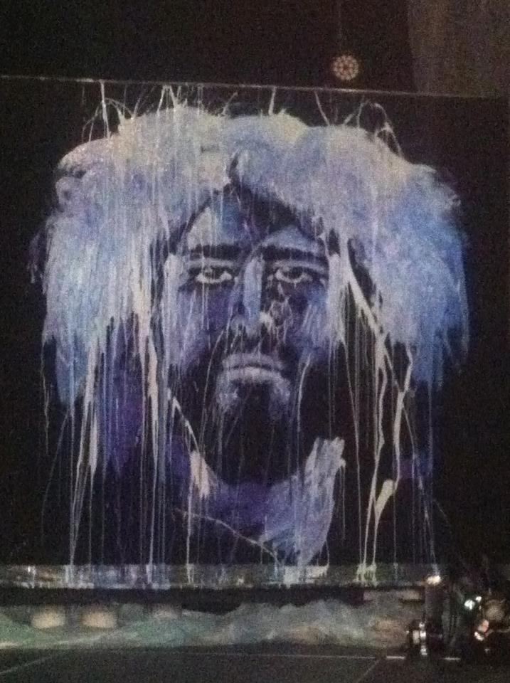A live painting of Jesus