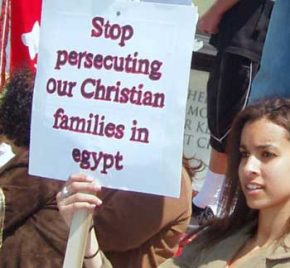Protest against persecution of Christians in Egypt