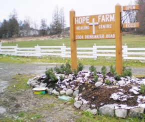 The Hope Farm Healing Center Sign