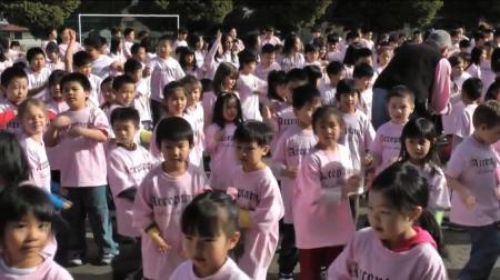 Burnaby Children in Pink Shirts in Anti-Bullying video