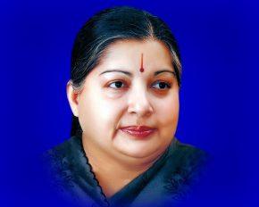Portrait of Dr J Jayalalitha