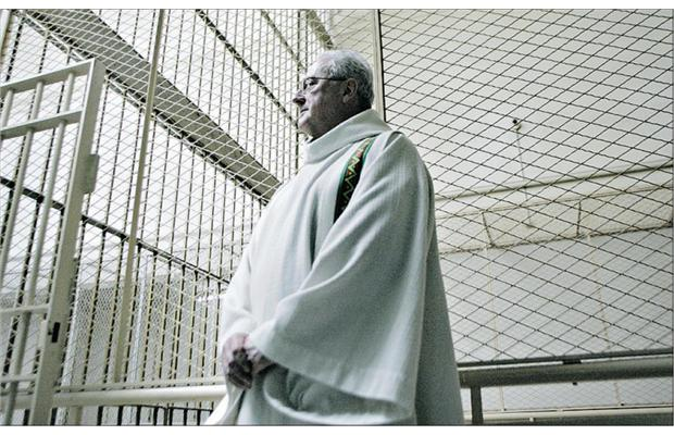 A clergyman in a prison