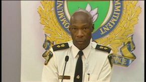Devon Clunis, Winnipeg Police Chief addresses a press-conference