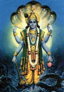 The Hindu god, Vishnu